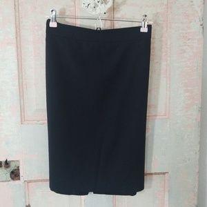 Talbots Black wool pencil career skirt size 6
